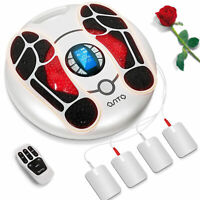 OSITO Foot Massager Legs Blood Circulation Tens EMS Pain Relief +4Pads Machine