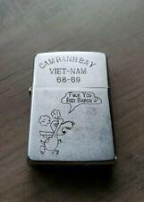 Vintage 1967 Zippo Lighter Vietnam War Snoopy  F@@K YOU RED BARON 5 Barrel