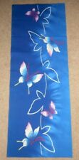 "Vintage Japanese kimono Yukata Butterflies from  Unused Bolt 15"" x 40"""