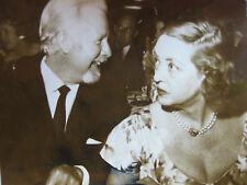 Photo presse vintage AFP Arthur O'Connell et Bette Davis cinéma acteurs 1963