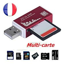 LECTEUR READER ADAPTATEUR USB MULTI CARTE MEMOIRE SD/SDHC/MMC/TFLASH/MICRO SD/MS
