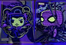 FUNKO POP! MARVEL BLACK LIGHT POSTER 2 PACK DOCTOR STRANGE & SPIDERMAN Set
