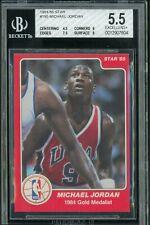 1984-85 Star Basketball #195 Michael Jordan True RC Rookie HOF BGS 5.5 w/ 9