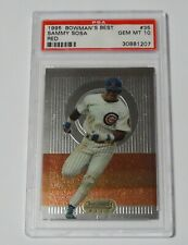 Sammy Sosa 1995 Bowman's Best PSA 10 Gem Mint Graded Card RED Cubs #35