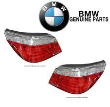 For BMW E60 528i 535i 550i Pair Set of 2 Taillight w/ White Turn Signal Genuine