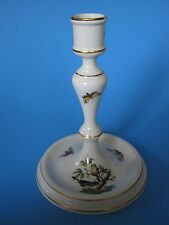 """Herend 7.25"""" Candlestick- """"Rothschild Bird"""" Pattern- Butterfly/ Insect- Hungary"""