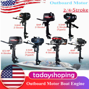 2/4Stroke Outboard Motor 3.5/3.6/4/6/6.5/7HP Boat Engine Motor Air/Water Cooling