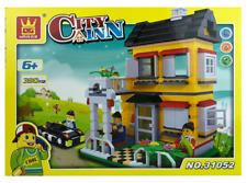 House Building Blocks Bricks -City Inn Yellow - Wange