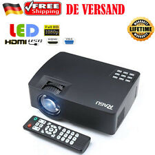 Neues Angebot1080P Mini LED Beamer AV/SD/HDMI/VGA Video Heimkino Projektor für SmartPhone/PC