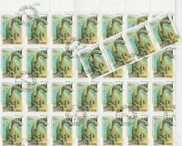 Lao Dinsaur by Lake Scene  Stamps Decoupage Crafts or Collect Ref 28329