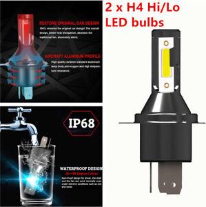 Pair Powerful H4 110W Car LED Headlight Headlamp Kit Conversion Bright Bulb Part