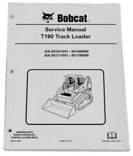 Bobcat T190 Track Loader Service Manual Shop Repair Book 3 Part 6904146