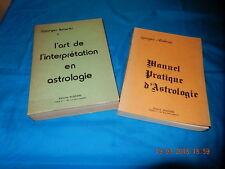 ART DE L'INTERPRÉTATION ET MANUEL PRATIQUE ASTROLOGIE ANTARES BUSSIERE 1985 1986