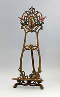 9937918 Cast Iron Figure Easel Stand Art Nouveau Colourful Rustic 27x25x63cm