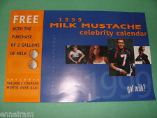 1999 Got Milk Mustache Celebrity Calendar John Elway Yasmine Bleeth +
