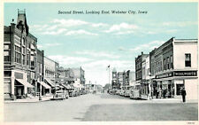 Webster City,IA.Second St.Looking E.Hamilton Co.Woolworth,White Border,c.1918-30