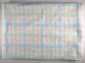 Gerber Baby Blanket Security Lovey Fleece Pastel Plaid Spring Easter