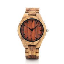 BOBO BIRD V-K27 Zebra Wooden Wristwatch Mens Brand Design Wood Strap