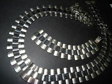 DEMI CHUNKY SILVER TONE LINK NECKLACE AND BRACELET
