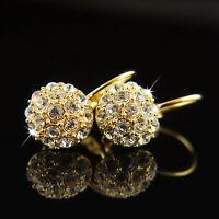 18k Gold GF with Swarovski elements women dangle drop crystals earrings