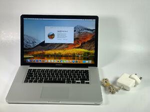 "Apple MacBook Pro 2 Duo A1287 15.4"" 2.53 GHz 4GB 500GB HDD 2010 Silver Grade C"