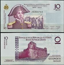 HAITI Bicentennial Series 2004 Dated 2010 10 GOURDES CRISP Uncirculated P-272