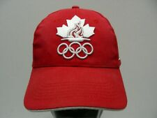 c574ef027e6 CANADA OLYMPICS - RED - ONE SIZE ADJUSTABLE BALL CAP HAT!