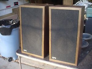 Classic EPI 100V 1976 Stereo Speaker Cabinets Only w Crossovers USA