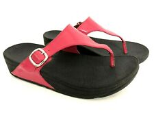 FitFlop The Skinny US 8 EU 39 Hot Pink Patent Buckle Thong Flip Flops A97-202