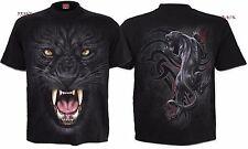 SPIRAL DIRECT TRIBAL PANTHER T-Shirt/Motard/Crâne/Tribal/Tatouage/Sauvage/foncé/