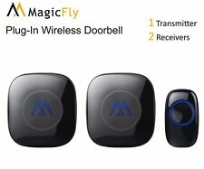 New Wireless Doorbell Kit Portable Long Range Alarm Chimes Plug Battery 52 Tones