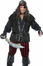 Deluxe Plus Size Ruthless Rogue Pirate Costume Mens XXL 2XL 48-52
