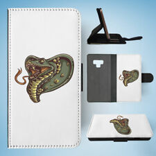 SAMSUNG GALAXY NOTE 9 FLIP CASE WALLET COVER|SNAKE HEAD 2