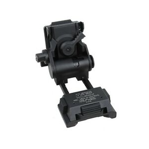 HM L4G24 NVG Helmet Mount CNC (Marking Ver) (Black) Wilcox Fast Mich HM109-BK