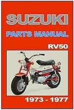 SUZUKI Parts Manual RV50 Van Van 1973 1974 1975 1976 1977 & 1978 Spares Catalog