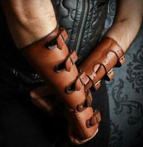Men's Bracers DIY Vintage Medieval Renaissance PU Leather Stage Props Costume
