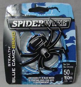 Spiderwire Stealth 50lb x 150m Blue Camo Braid *Free Postage*