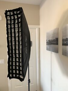 "Paul C Buff 10"" X 36"" Softbox W/Grid"