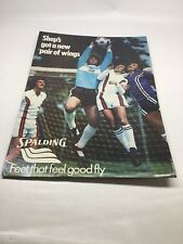 1979 Spalding Dealer Store Display Shep Messing Soccer Poster
