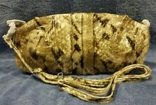 NWT Chinese Laundry Taupe  PYTHON MANIA 2 Clutch