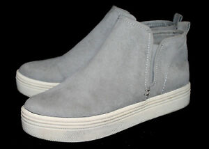 DOLCE VITA Walker Ankle Bootie Women's 8 Gray Suede Pull On Platform Sneaker