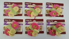 (Set of 6) Cat Toys 'Flutter Fly' Colorful Butterfly With Crackle Sound Wings
