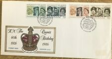HM THE QUEEN'S 60TH BIRTHDAY 21 APR 1986 WITH WINDSOR SPECIAL FDC PMK PHILART
