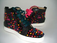 NIB Christian Louboutin womens flat patent calf spikes sneaker 39 Sold Out