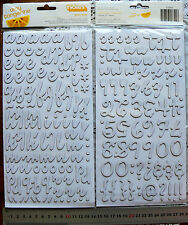 MUSE WHITEWASH - 179 Alphabet & Numbers - 16-43mm High & 12-26mm Wide L2