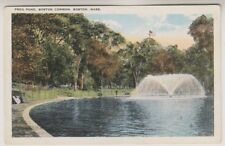 USA postcard - Frog Pond, Boston Common, Boston, Mass (A97)