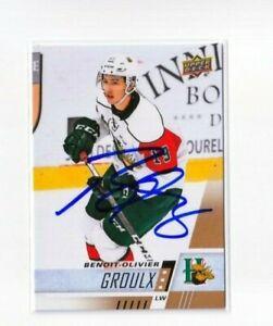 BENOIT-OLIVIER GROULX autographed SIGNED '17/18 Upper Deck CHL card #83