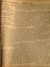 D5-1 ephemera 1914 Article Dover Football Results And Reports April 18th