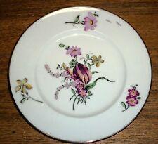 "Floral Porcelain Plate - Royal Victoria Fine Bone China England - 8 1/4"""