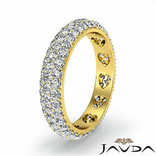 Round Diamond Womens Eternity Wedding Band 18k Yellow Gold Pave Set Ring 1.25Ct